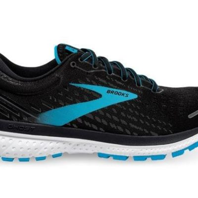 Fashion 4  Shoes - Brooks Ghost 13 (D) Womens Black Turquoise