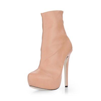 Shoespie Side Zipper Stiletto Heel Short Floss Ankle Boots
