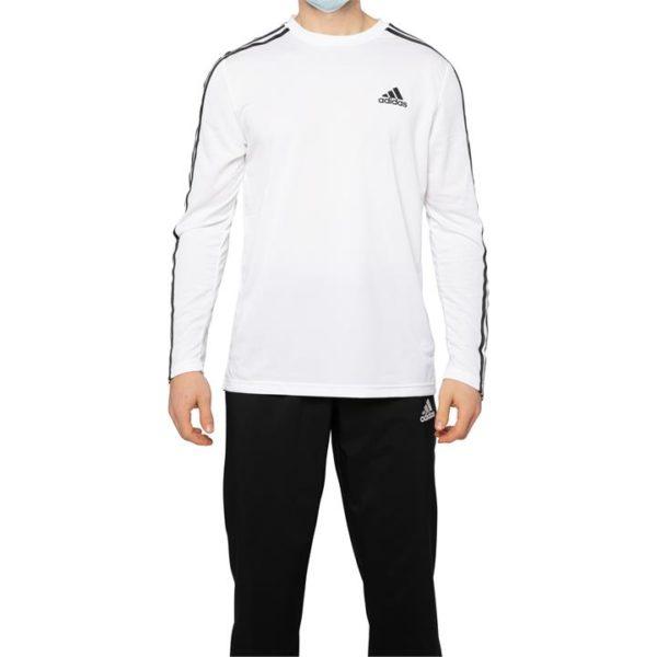 Fashion 4 Shoes - Adidas Aeroready Designed 2 Move 3-Stripes Long Sleeve  Size XS Mens
