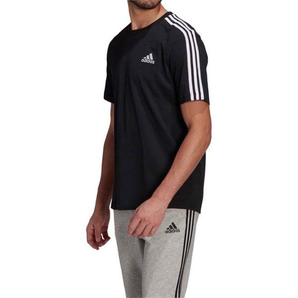 Fashion 4 Shoes - Adidas Essentials 3-Stripes Tee  Size XS Mens