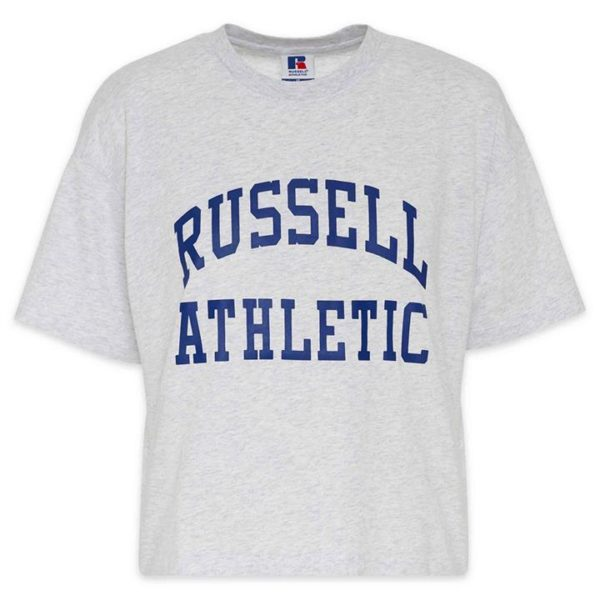 Fashion 4 Shoes - Russell Athletic Arch Logo Crop T-Shirt  Size 8 Womens