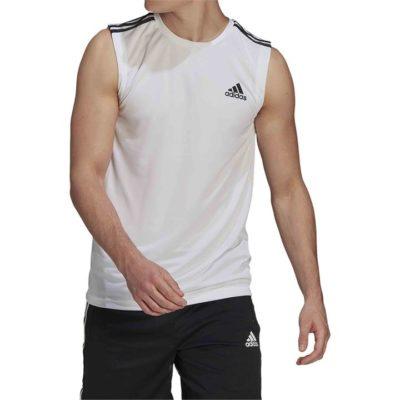 Fashion 4 Shoes - Adidas Aeroready Designed To Move Sport 3-Stripes Tank Top  Size XS Mens