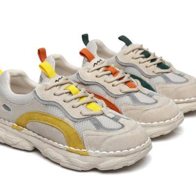 Fashion 4 Shoes - Chunky Sneakers Women Night Glow Windy - Grey / Red / AU Ladies 7 / AU Men 5 / EU 38