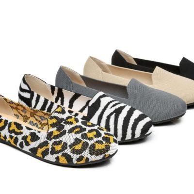 Fashion 4 Shoes - Foldable Flat Loafers Women Trisha - Leopard / AU Ladies 6 / AU Men 4 / EU 37